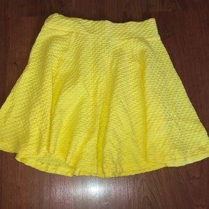 Yellow Skater skirts.